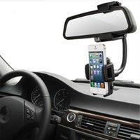 Wholesale Car rearview mirror mobile phone stand car rear mirror mobile phone navigation seat universal multi function hose phone rack