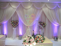 Wholesale Creative Korean Ice Silk Wedding decoration Wedding Backdrop m m ft ft Props Stage Background Curtain High Quality