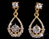 adorn boutique - The European and American fashion boutique earrings Nobility is the bride adorn article Crystal set auger eardrop of zircon earrings