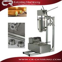Wholesale Hot sale Spanish snack equipment stainless steel electric V L capacity churro machines maker with L capacity fryer CR CMF56