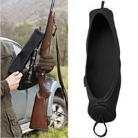 Wholesale Tourbon Hunting Gun Accessories Large Size Neoprene Rifle Scope Cover Black Color for Hunting Shooting Military
