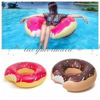 Wholesale Summer Water Toy inch Gigantic Donut Swimming Float Inflatable Swimming Ring Adult Pool Floats Colors Z236 M