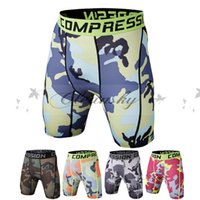 Wholesale New Running Sport Mens Basketball Tight Compression Shorts Gym Fitness Brand Clothing Training Wicking Short Pants Homme Men L211 M