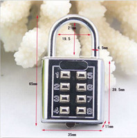Wholesale New Design Digit Push Button Combination Padlock Silver Number Luggage Travel Code Lock