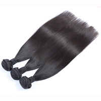 nail color machine - Virgin human hair pieces Brazilian Cambodian Chinese straight hair extensions bundles natural color dyeable with free nails