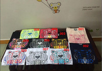 Wholesale Hot medusa lovers new KZ multi color printing head and neck of men and women short sleeved Philipp plein T shirt