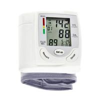 Wholesale 1 Health Care Digital LCD Wrist Blood Pressure Monitor Heart Beat Rate Pulse Meter Measure Arm Sphygmomanometer