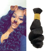 Wholesale Brazilian Virgin Human Hair Unprocessed Remy Loose Wave Bulk Human Hair Loose Curly Human Bulk Hair No Attachment