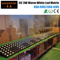 active matrix display - New TP L146 x3W Warm White Led Matrix Light Flat Iron Case LCD Display Fan Chain Connect USA CREE rgba par Professional Stage DJ