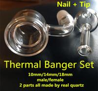 Wholesale 2017 thermal quartz banger nail Double wall quartz nail mm mm mm male female real quartz