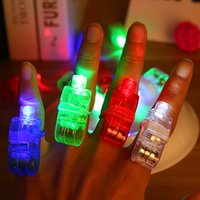 Wholesale Creative glowing finger lights kids like flash glow luminous rings children s day Birthday party gifts toys