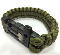 Wholesale 2016 new paracord survival bracelet Best sale Cheap Super quality bracelet with fire stick cutting knife and whistle hand bracelet