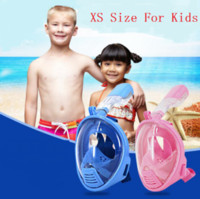 Wholesale New Arrival Kids Full Dry Face Anti Fog Full Face Diving Swimming Underwater Snorkel Mask For Gopro