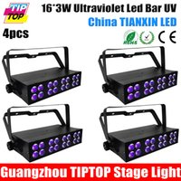 active row - 4pcs Watt Ultraviolet LED light Bar with x Watt High Power LEDs In Double Row Array Aluminum Case Stage UV Washer