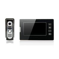acrylic doors - Acrylic Smart home video door phone inch screen touch key CMOS infrared night vision camera doorbell