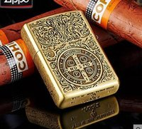 Wholesale The father windproof lighter version of Constantine lighter pure copper lighters oil