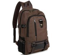 Toile sac à dos beige brun Avis-Mode sacs à dos occasionnels masculin garçon marron noir toile sacs à dos Nylon sac à dos concepteur