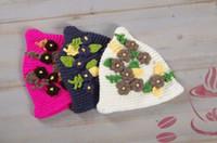 Wholesale pure cotton line beautiful handmade children of hats