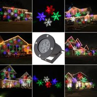 Wholesale 4W RGBW LED Moving Snowflake Film Christmas Xmas Lawn Show Projector Light Outdoor IP65 Water Resistant Pattern Decoration Lamp L1520