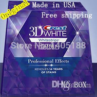 Whitening Pen other other 10 Pouches (20stripes) Crest 3D White LUXE oral hygiene teeth tooth whitening Professional Effects Whitestrips dental white Free Shipping