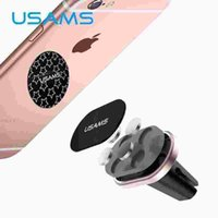 aluminum magnet wire - USAMS Magnetic Car Phone Holder Magnet Mobile Phone Holder for iPhone Samsung Air vent mount Car Holder Stand