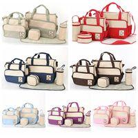 Wholesale Diaper Mummy Bag Baby Maternity Bags Mama Packs Mummy Packet Nursery Bag Mama Bags Women Fashion Handbag Nappy Tote Shoulder Bag D527