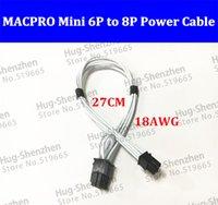 Mini 6pin à pcie 8pin support de câble d'alimentation de carte vidéo 8 broches pour Mac pro G5 GTX480 gtx680--1pcs / lot