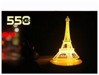 Lumière de nuit 3D Lumière de LED de détection Nightlight Nightlight 3D stéréo Ferris roue intelligente lumière lampe à induction de tour en bois