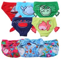 Wholesale 2017 style baby swimming shorts for small baby little animal printed cartoon style DHL for