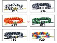 Wholesale 49 Colors Braiding Lion Galaxy Shoelace Sport Bracelets Wristband Adjustable Ties Couples California Rastaclat Bracelet can Mix Styles