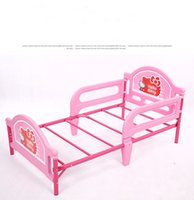 Wholesale Retail Plastic Metal Children kids Girl Boy Baby Bed with Cartoon Small size for to Years old Baby