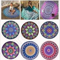 Wholesale 12 Designs Round Bikini Cover Beach Carpet Towel Bikini Cover Ups Bohemian Hippie Beachwear Chiffon Beach Shawl Bath Towel CCA5296