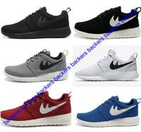 Wholesale 2017 Roshe Run Shoes One Red Grey Fashion Mens Women Sports Running Shoes Rosherun London Olympic Roshes Runs Shoes Sneakers Free Ship
