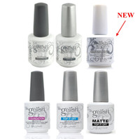 uv top polishes achat en gros de-Harmony Gelish Gel à ongles Gel Soak off LED UV STRUCTURE GEL TOP it off et Foundation nail art Gel Polish frence clous