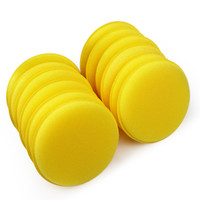 automobile wax - set Car Wax Sponge Automobile Cleaning Tool Car Care Yellow Anti Scratch Applicator Pads Tyre Dressing Foam