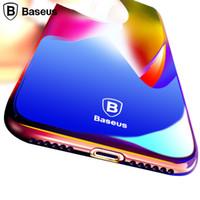 aurora case - Baseus Originality Case For iPhone plus luxury Aurora Gradient Color Transparent Case For iPhone s Plus light Cover Hard PC Cases
