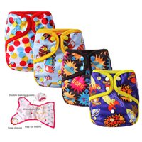 Wholesale 20PCS Baby Cloth Nappy Leakproof Reusable Diapers Newborn Diaper Covers Waterproof Cloth Nappies Pocket Diaper Trainning pant