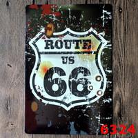 Route 66 Vintage Art Craft Tin Sign Rétro peinture en métal Antique Affiche Bar Pub Signs Wall Art