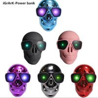 Wholesale mAh Cool Skull Universal Mobile Power Bank general charger external backup battery pack