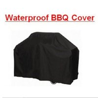 barbecue electric - protector mp3 M Black Waterproof Bbq Cover Outdoor Rain Barbecue Grill Protector For Gas Charcoal Electric Barbeque Grill