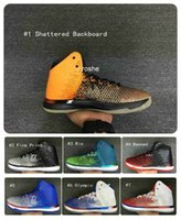 basket backboard - 2016 New Style Retro XXXI quot Shattered Backboard quot Mens Basketball Shoes Air Zoom Mens Trainers Athletic Sport Sneakers US7