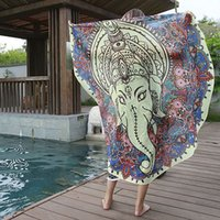 Wholesale MANDALA TOWEL SUMMER BEACH ROUND TOWELS Indian Bohemian Tapestry Blanket Hippie Picnic Blanket Yoga Throw Mat