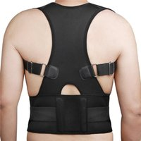 Wholesale Posture Corrector Shoulder Posture Corrector Posture Brace New Magnet Posture Back Shoulder Corrector Support Brace Belt Therapy Adjustable