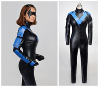 arkham city nightwing - Batman Arkham City woman Nightwing cosplay halloween costumes