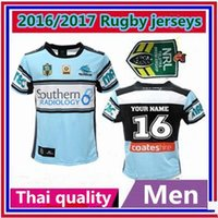 australian football jersey - Thailand Quality Australian Football League team s new Cronulla Sharks rugby home jerseys size S M L XL XXL shirt