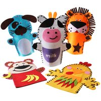 animal puppet crafts - psc cm Easy Crafts Non Woven Cloth Animal Lion Cow Monkey Dog Duck Hand Puppet KidsCreative DIY Sewing Toy EVA Sticker