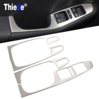 Carbon Fiber Vinyl Film auto parts body panels - Car Styling stainless steel armrest panel cover decoration For Volkswagen VW Jetta MK6 auto parts