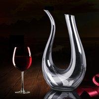 Wholesale Handmade Crystal Red Wine Pourer Glass Decanter Brandy Decant Set Jug Bar Champagne Water Bottle Drinking Glasses Gift