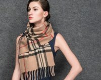 Wholesale Autumn and winter beijirong pure wool shawl neck ladies classic Plaid wind warm dual purpose thickened long paragraph