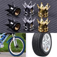 Wholesale Gold Crown Shaped Tyre Wheel Stem Air Valve Caps Car Tire Valve Caps Auto Truck Motocycle Bike MTB Dust Dustproof Caps